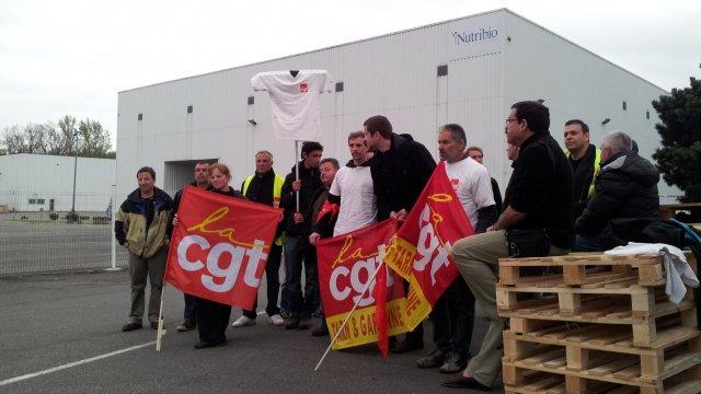 piquet de grève à Nutribio