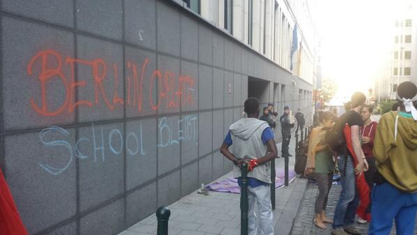 L'ambassade d'Allemagne taguée à Bruxelles