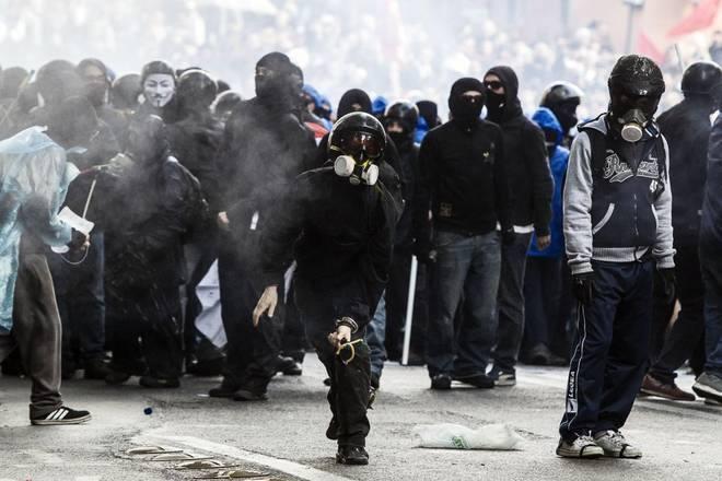 Les affrontements du 12 avril 2014 à Rome