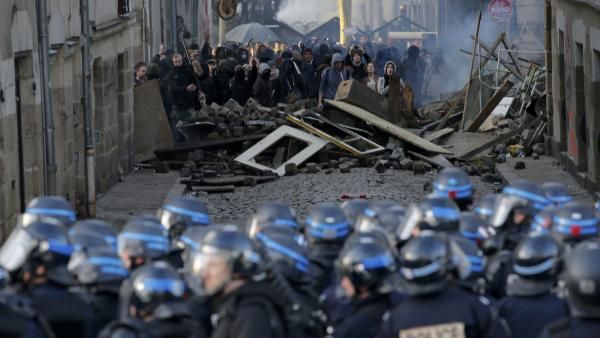 Les affrontements du 22 février à Nantes