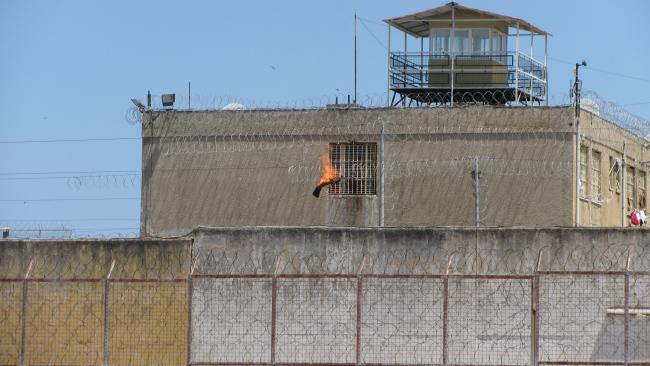 Manifestation à la prison de Patras