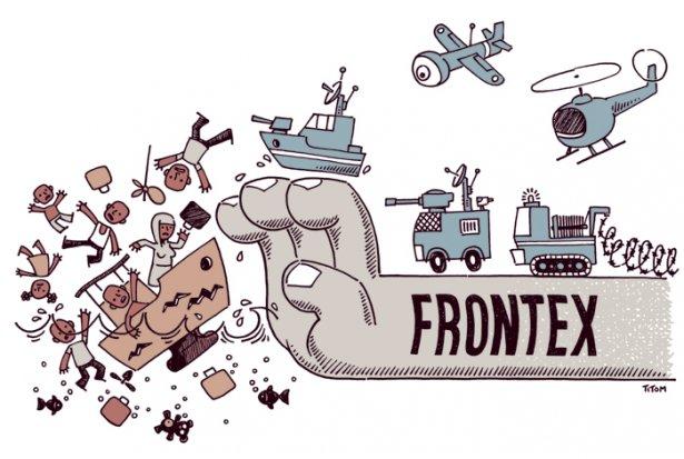 Affichette contre Frontex