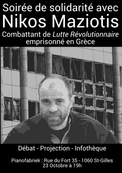 Soirée de solidarité avec Nikos Maziotis