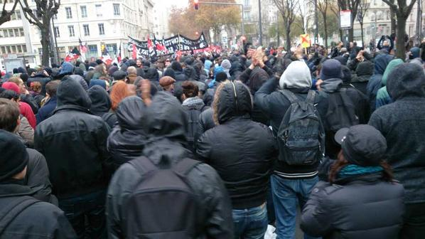Manifestation antifasciste à Lyon