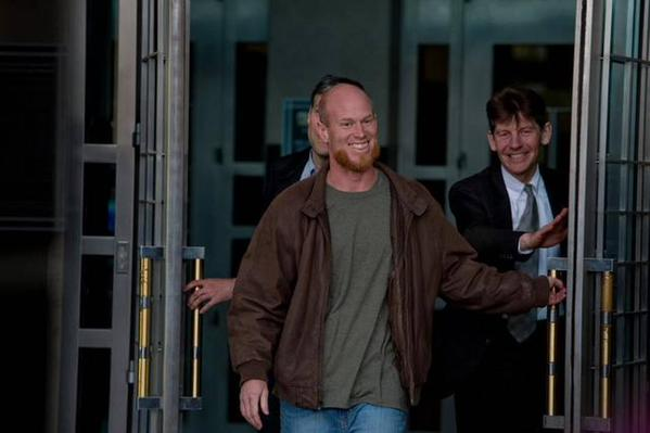 Eric McDavid à sa sortie de prison.