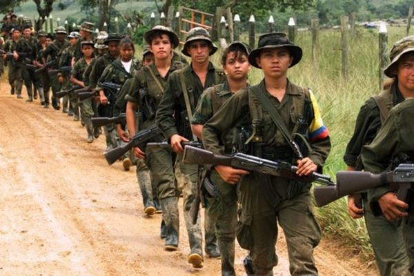 Une colonne des FARC