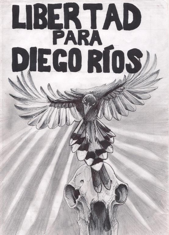 Affiche solidaire avec Diego Rios