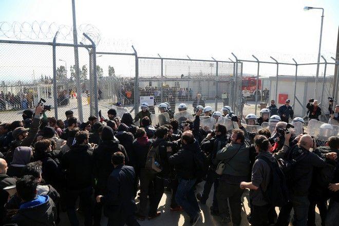 Affrontements au centre fermé d'Amygdaleza.