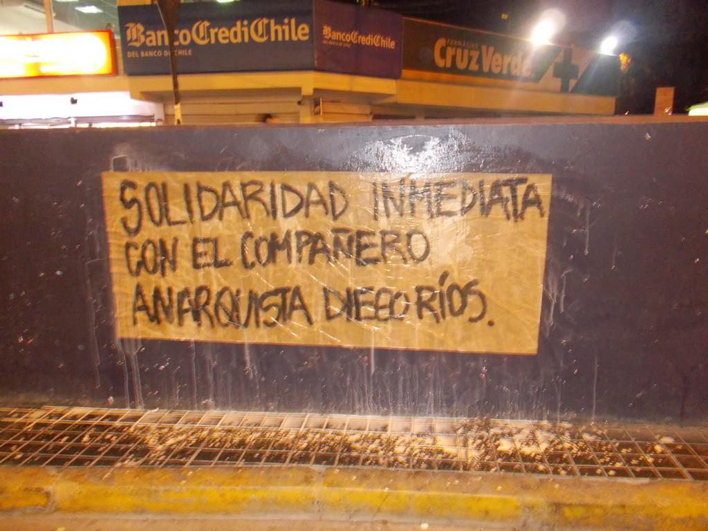 Affiche en solidarité avec Diego Rios
