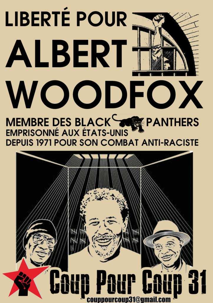 Affiche pour la libération d'Albert Woodfox.
