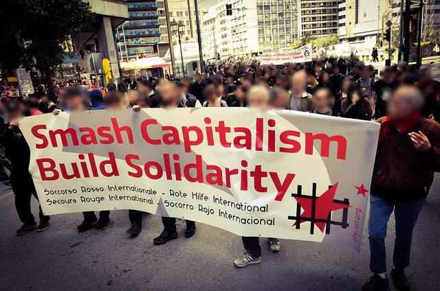 Délégation du SRI à Athènes à la manifestation du 28 mars.