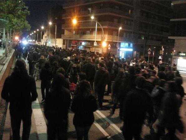 Manifestation à Barcelone.