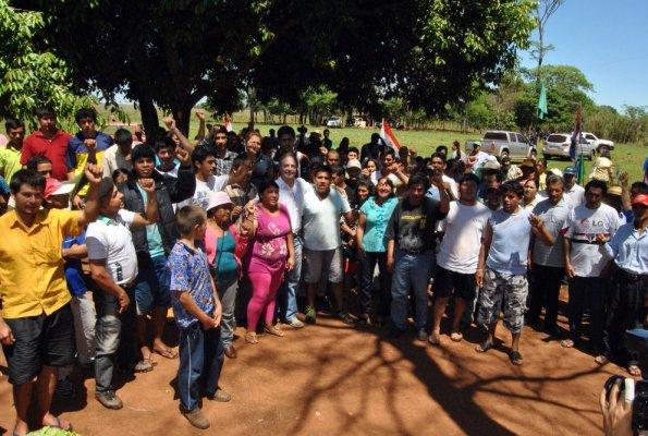 Une rassemblement, datant de la semaine passée, de paysans spolié par la société brésilienne.