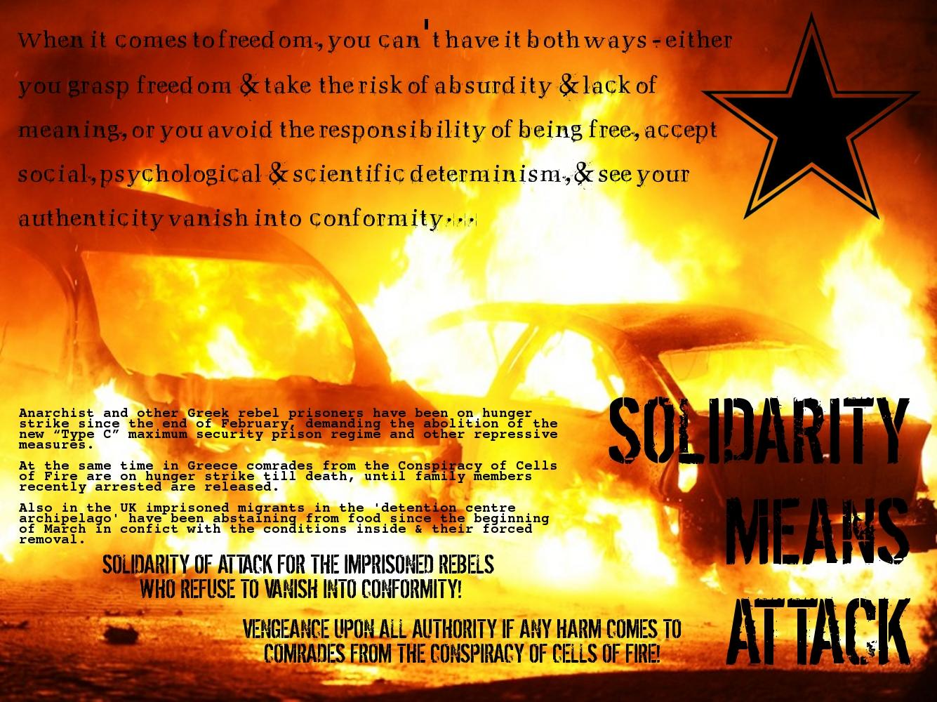 Affiche de solidarité avec les grévistes