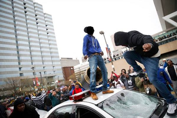 Affrontements à Baltimore.