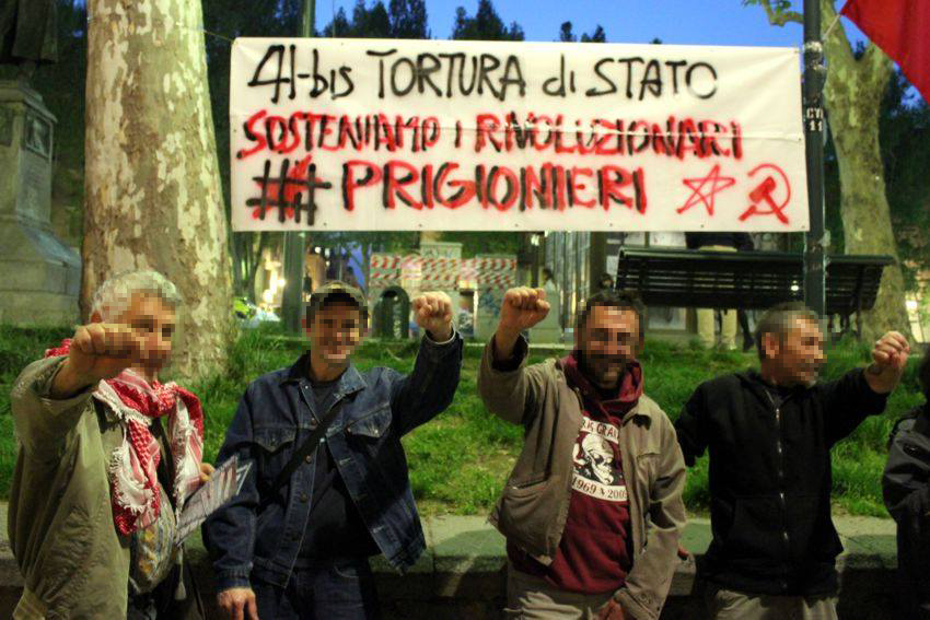 Rassemblement contre 41bis à Turin.