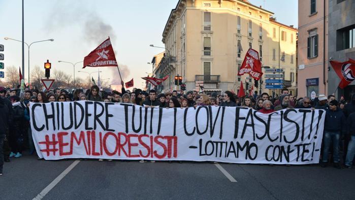 La manifestation du 24 janvier à Cremona.