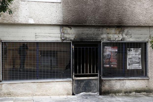 Un bureau de SYRIZA attaqué.