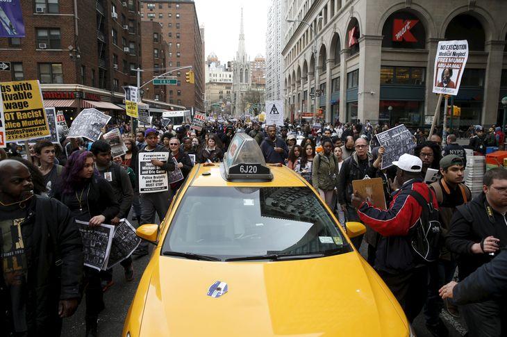 La manifestation de ce mardi à New-York