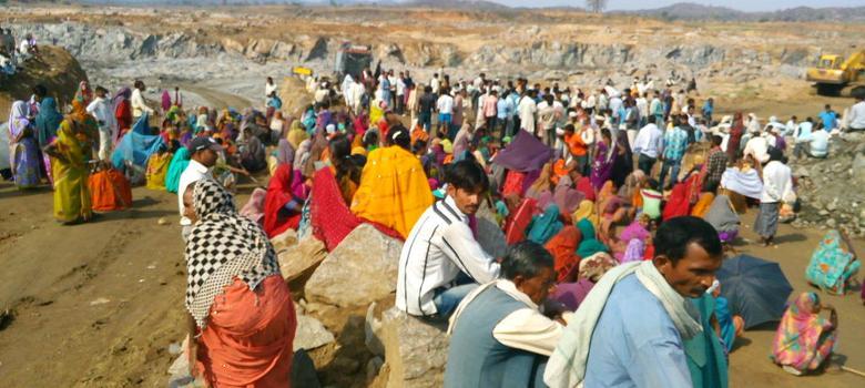 Manifestation tribale à Sonbhadra