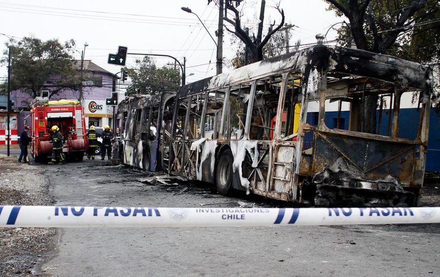 Le bus Transantiago.