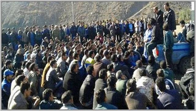 Travailleurs grévistes de la mine de fer de la ville de Bafgh