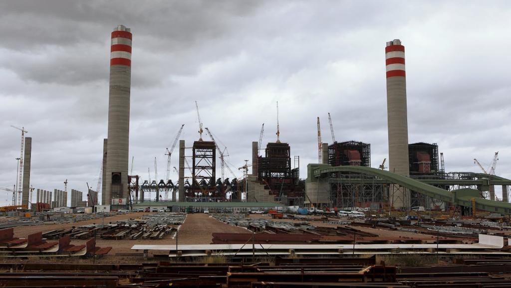 Le site de construction de la centrale à charbon de Medupi