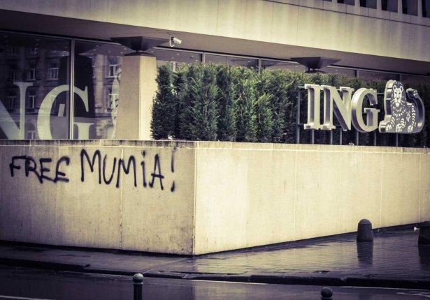 Tag Mumia à Bruxelles.