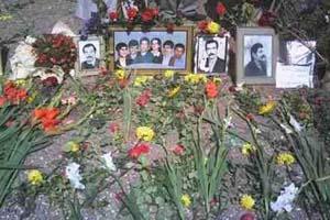 Une des fosse commune de prisonniers politiques au cimetière Khavaran