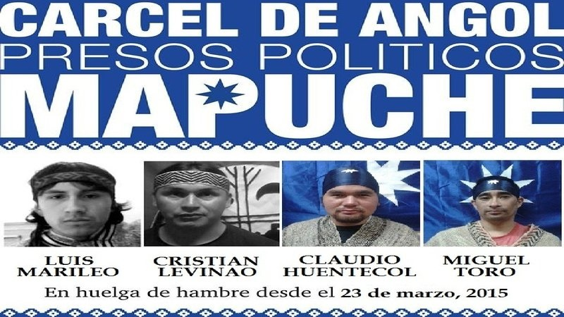 Les quatre prisonniers politiques mapuche en grève de la faim