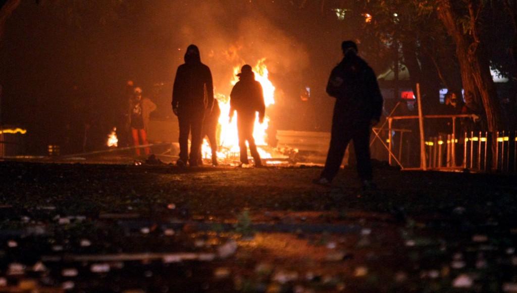 Émeutes à Exarchia.