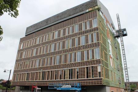 Le chantier du nouveau commissariat central de la zone Mons-Quévy
