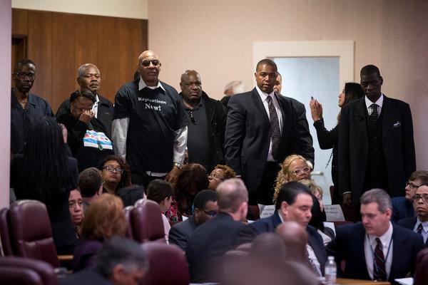 Quelques unes des victimes de la police de Chicago, présentes au procès