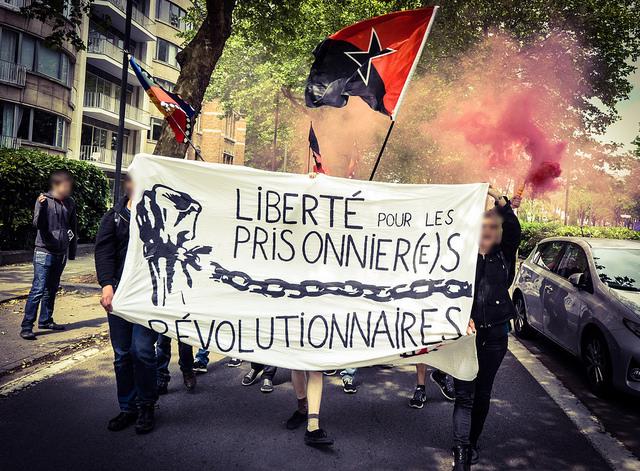 Manifestation pour les prisonniers politiques au Chili et au Maroc.
