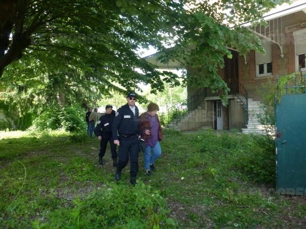 Arrestation lors de l'évacuation du deuxième squat à Bourg