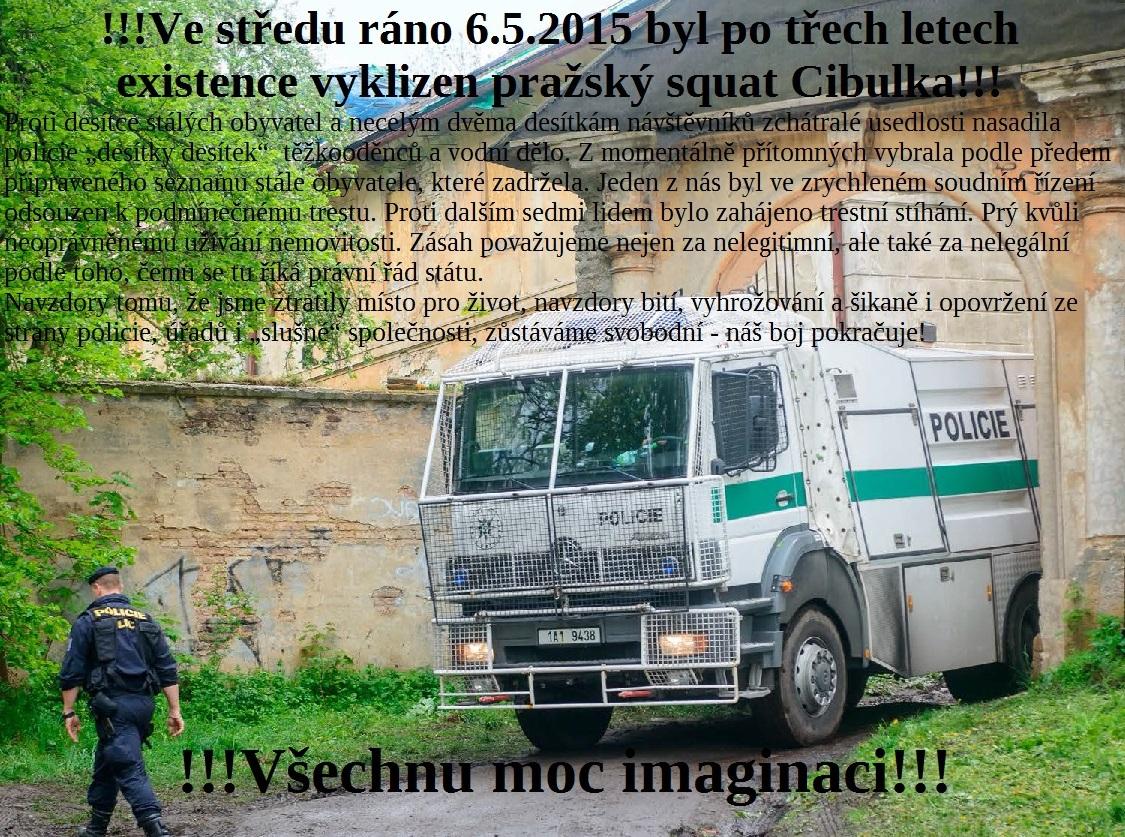 Expulsion du squat Cibulka à Prague