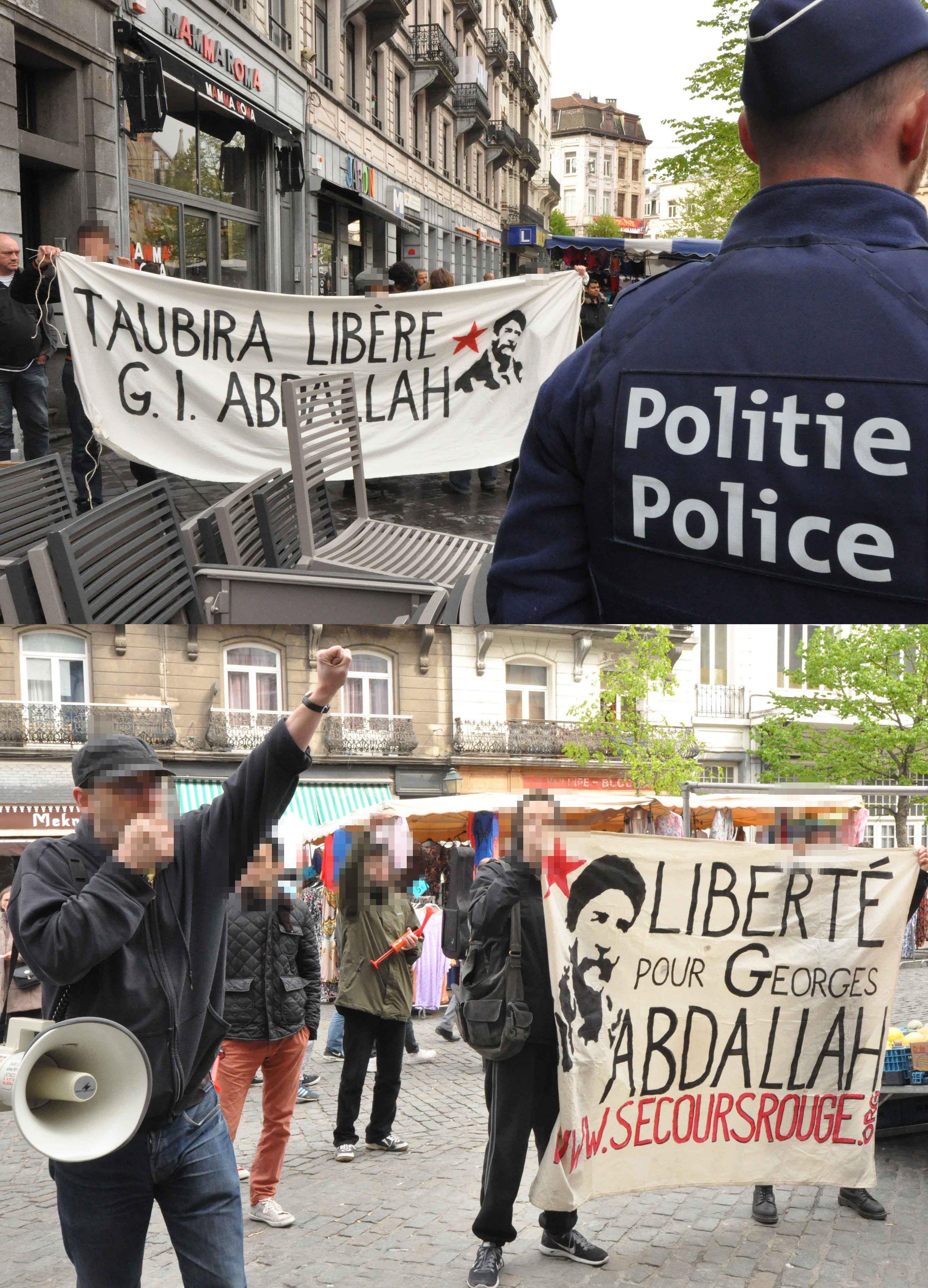 Rassemblement pour Georges Abdallah à Saint-Gilles.