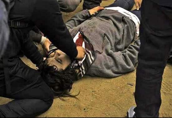 Un des manifestants abattu à Valparaiso.