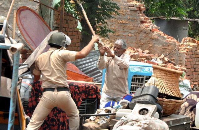 Affrontements à  à Gurgaon