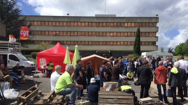 La grève chez Itron