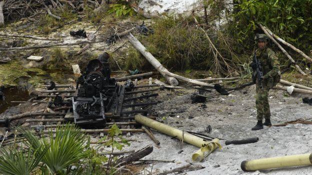 Une exploitation minière clandestine des FARC