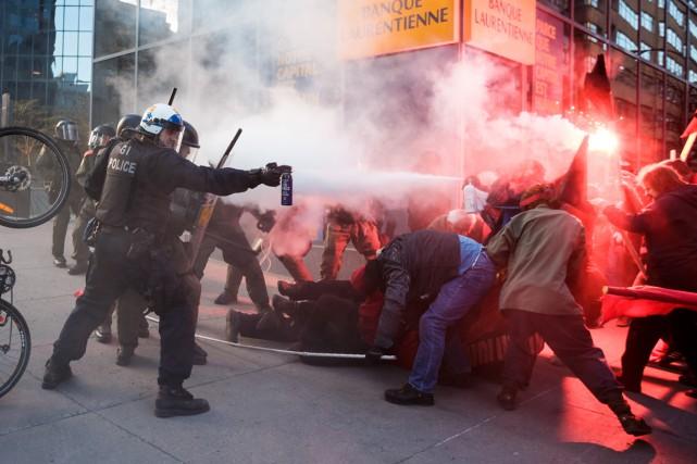 Affrontements au 1er mai anticapitaliste à Montréal