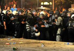 Affrontements à Skopje