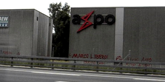 Tags sur le siège d'AXPO