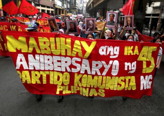 Manifestation pour les 45 ans du PCP