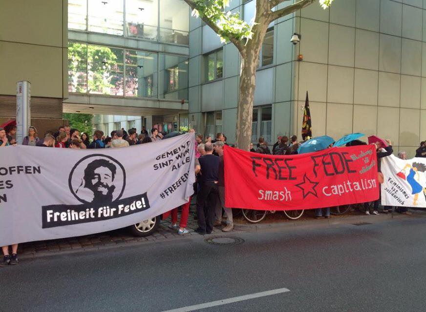 Rassemblement solidaire pour Frederico