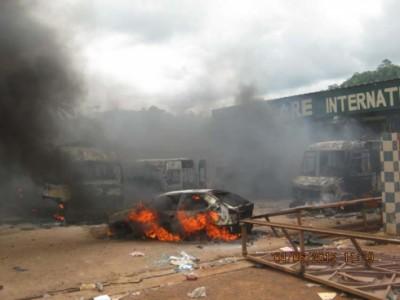 émeute à Man (Côte d'Ivoire)