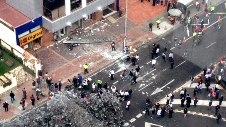 Un des attentats du 2 juillet à Bogota