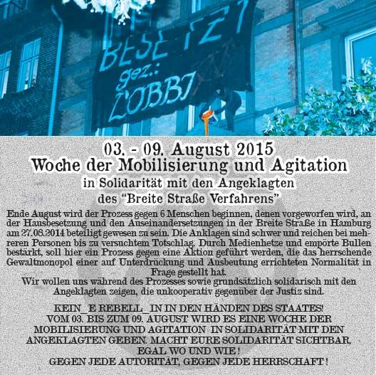 Appel à la mobilisation pour les inculpés de la Breite Strasse.