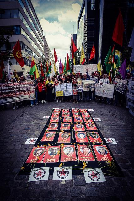 Le rassemblement à Bruxelles